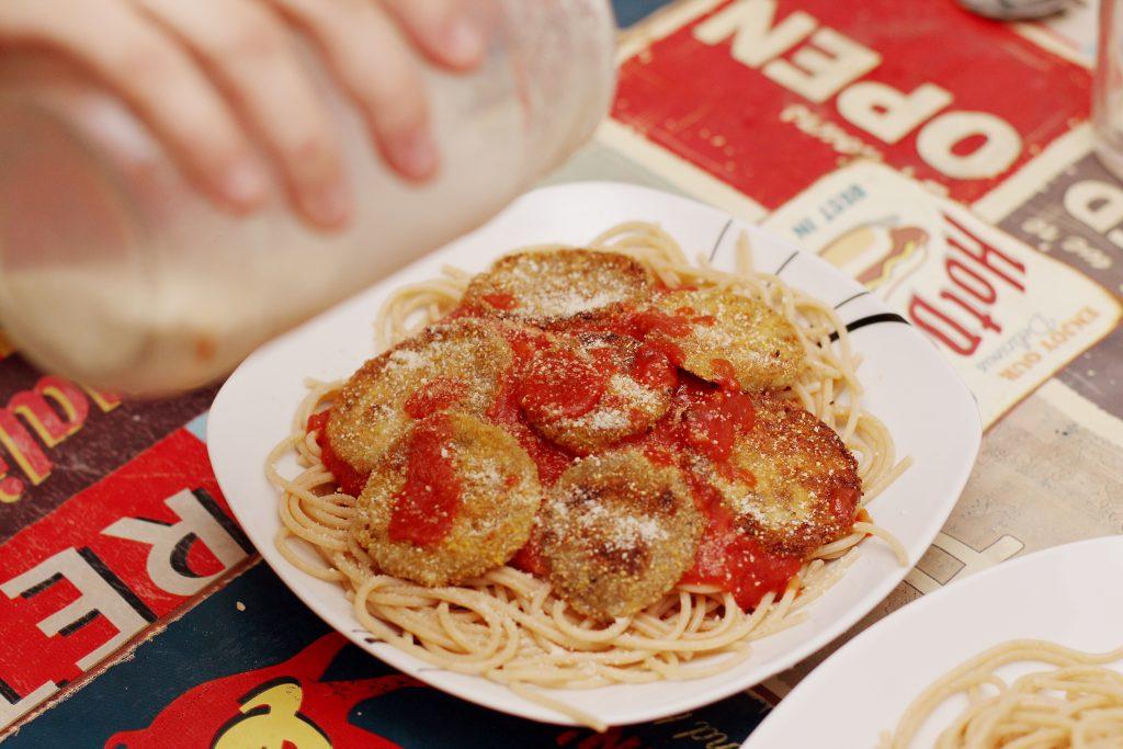 Spaghettis Aubergines