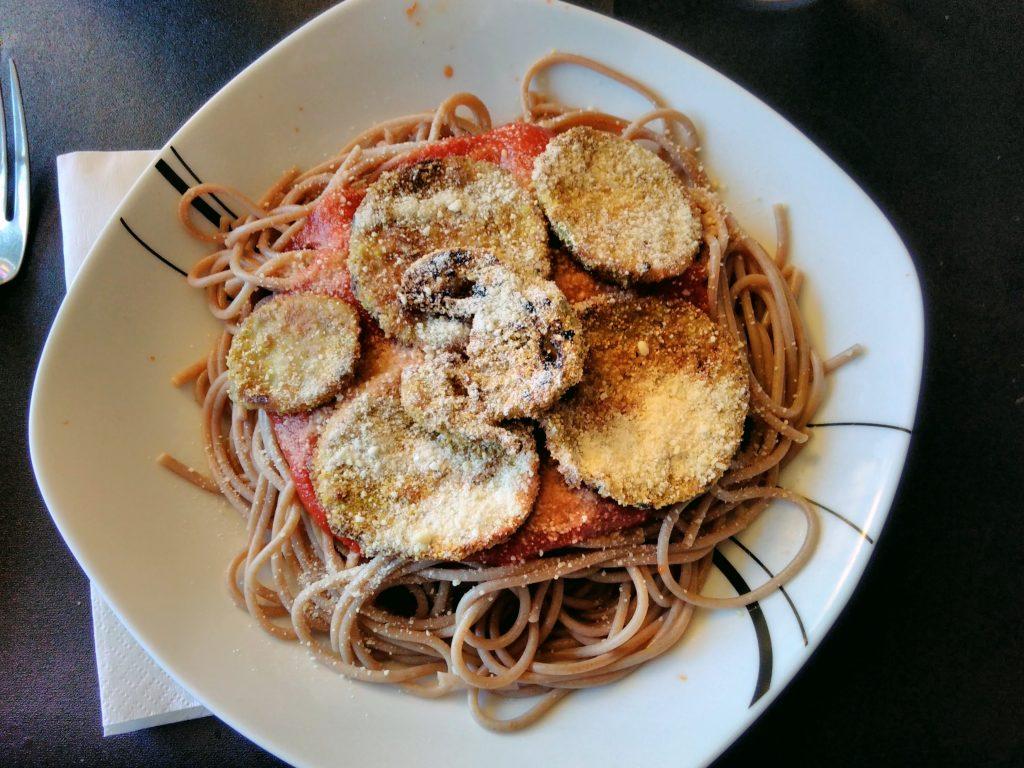 Spaghettis Parmesan